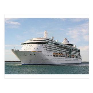 Barco de cruceros 5 postal