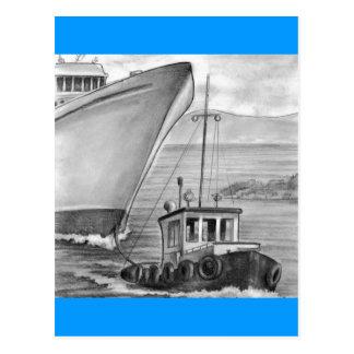 Barco de cruceros del remolque del barco del tirón postal