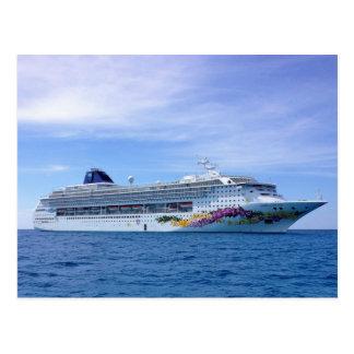 Barco de cruceros postal