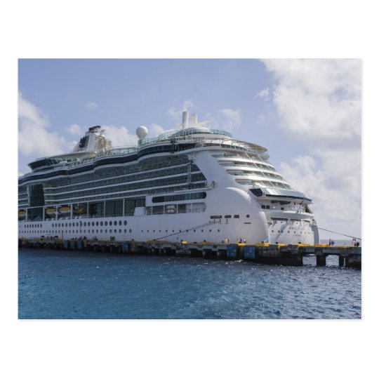Barco de cruceros tropical postal