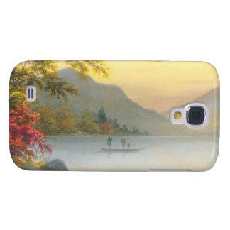 Barco de Kenyu T en el lago en acuarela del Funda Para Galaxy S4