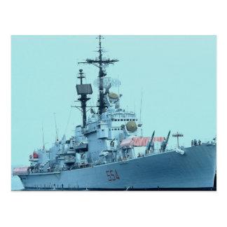 """Barco de la Armada italiano que visita de C-554 """"C Tarjetas Postales"""