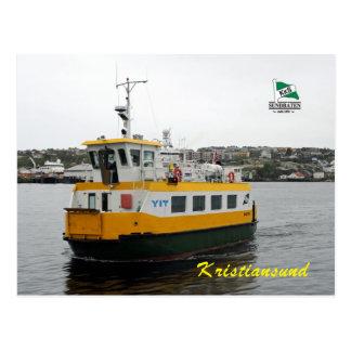 Barco de la lanzadera en Kristiansund Noruega Postal