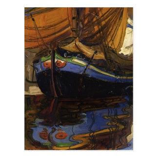 Barco de la Schiele-Navegación de Egon con la refl Postal