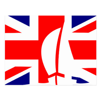 Barco de navegación BRITÁNICO de la bandera de Postal