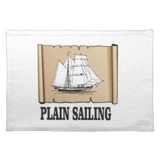 barco de navegación llana salvamanteles