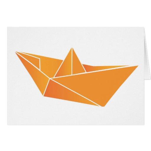Barco de Origami Felicitaciones