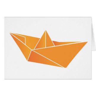 Barco de Origami Tarjeta De Felicitación
