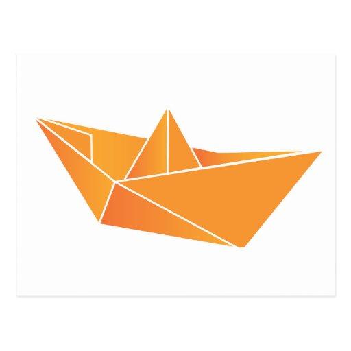 Barco de Origami Tarjeta Postal