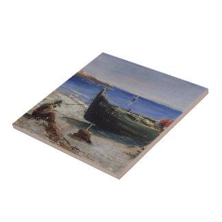 Barco de pesca de Enrique de Toulouse-Lautrec Teja Ceramica