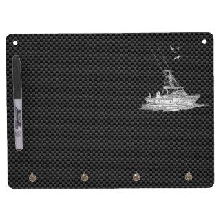 Barco de pesca del cromo en fibra de carbono pizarras blancas