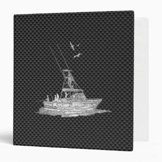 Barco de pesca del estilo del cromo en fibra de carpeta 3,8 cm