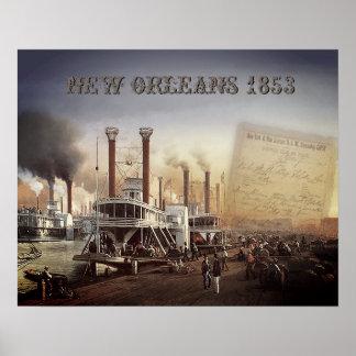 Barco de vapor de New Orleans Póster