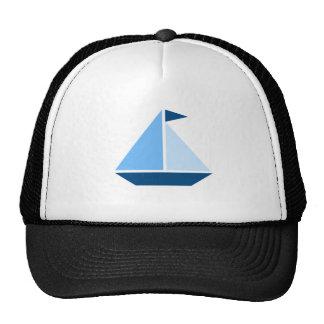 Barco de vela azul gorras de camionero
