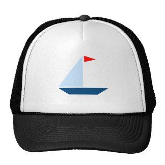Barco de vela de la bandera roja gorro