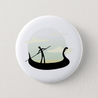 Barco de Venecia Chapa Redonda De 5 Cm