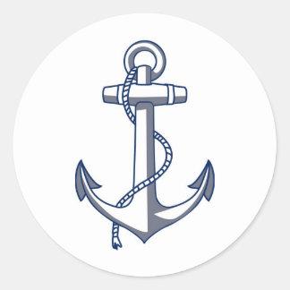 Barco del del de Ancla del buque Ancla Pegatina Redonda