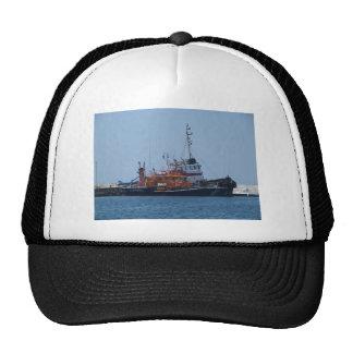 Barco del guardacostas y barco del tirón gorra