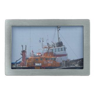 Barco del guardacostas y barco del tirón hebilla de cinturón