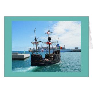 Barco del pirata en Madeira Tarjeta De Felicitación