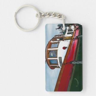 Barco del tirón del vintage llaveros