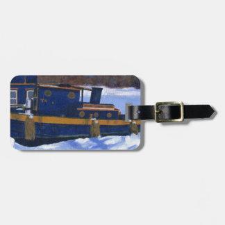 Barco del tirón etiqueta para maleta
