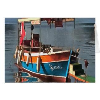 Barco Marmaris del taxi del sultán Tarjeta De Felicitación