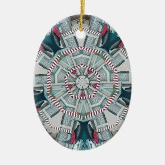Barco pedazos junio de 2013 adorno ovalado de cerámica
