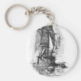 Barco pirata de la isla del tesoro llaveros personalizados