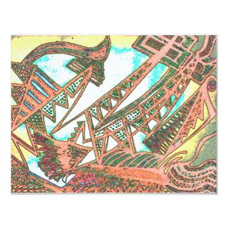 Barco pirata invitación 10,8 x 13,9 cm