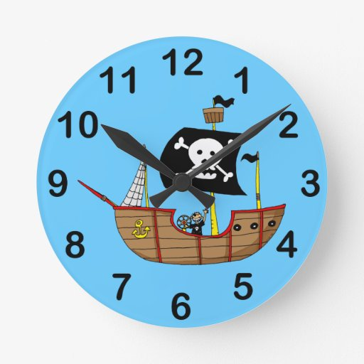 Barco pirata reloj de pared zazzle - Relojes de pared diseno ...