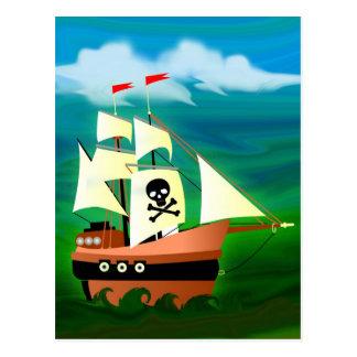 Barco pirata postal