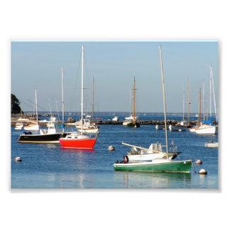 Barcos 7x5 del puerto de Nueva Inglaterra Impresion Fotografica