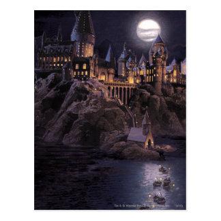 Barcos de Hogwarts a escudarse Postal