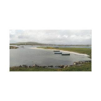 Barcos de la isla de Mweenish, impresión de la