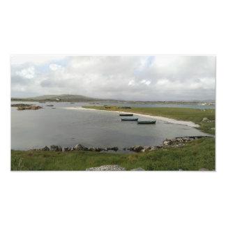 Barcos de la isla de Mweenish, impresión de la Foto