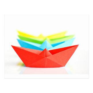 Barcos de Origami Postal