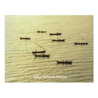 Barcos de pesca de oro del lago Victoria Kenia Postal