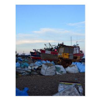 Barcos de pesca dicha y cuatro hermanos postal