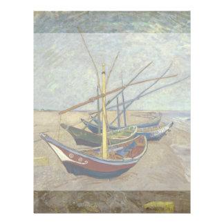 Barcos de pesca en la playa de Vincent van Gogh Folleto 21,6 X 28 Cm