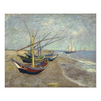 Barcos de pesca en la playa de Vincent van Gogh Impresiones Fotográficas