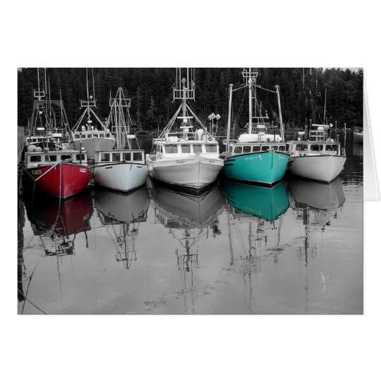 Barcos de pesca tarjeta de felicitación