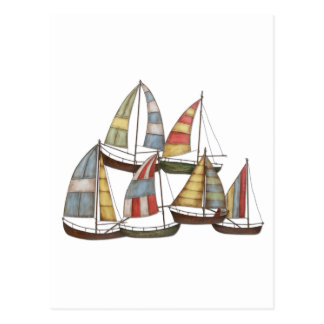Barcos de vela postal