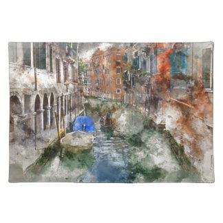 Barcos de Venecia Italia en el canal Salvamanteles