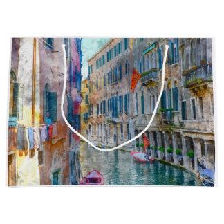 Barcos de Venecia Italia en el Gran Canal Bolsa De Regalo Grande
