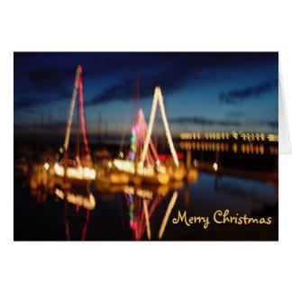 Barcos del navidad, Felices Navidad Tarjeta De Felicitación