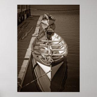 Barcos del vintage póster