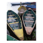 Barcos en el lago Phewa Tarjeta Postal