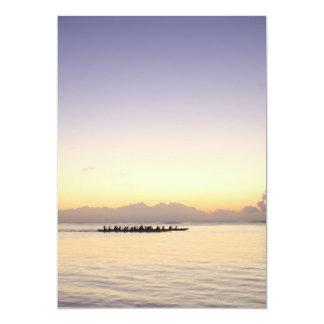 Barcos en el mar invitación 12,7 x 17,8 cm