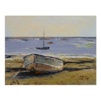 Barcos en postal del puerto de Provincetown